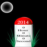Happy New Year 2014 Milestone Royalty Free Stock Photos