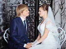 Photo of happy newlyweds Royalty Free Stock Image