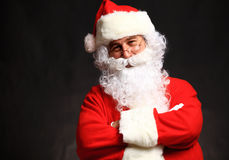 Photo of happy Santa Claus in eyeglasses Royalty Free Stock Photography