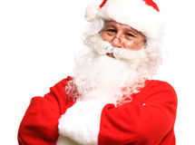 Photo of happy Santa Claus in eyeglasses Stock Image