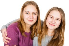Happy young sisters. Photo of happy young sisters having fun Stock Image