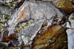 Solid Stone - Nature. A photo of a hard and solid stone. Somewhere in Romania Royalty Free Stock Photography