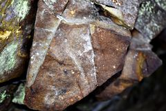 Solid Stone - Nature. A photo of a  hard and solid stone. Somewhere in Romania Stock Photography