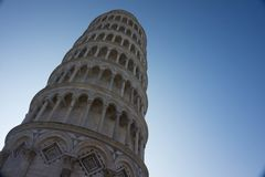 Pisa tower in a sunny day stock photos