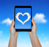 Photo of heart from clouds Stock Images