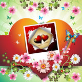 Photo with hearts Royalty Free Stock Photo