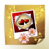 Photo with hearts Stock Photography