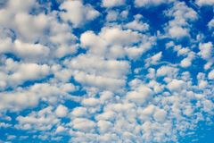 Photo of high blue sky with spindrift clouds background royalty free stock photos