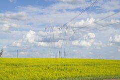 Support high-voltage power lines royalty free stock photo