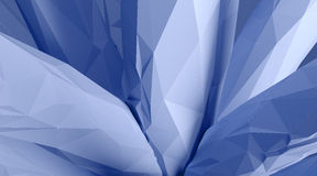 Photo of highly detailed ice blue color polygon. Abstract architecture background. Horizontal. 3d render Royalty Free Stock Photography