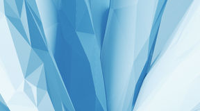 Photo of highly detailed ice blue color polygon. Abstract architecture background.  Internal space oF a modern chaotic Stock Photo
