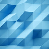 Photo of highly detailed multicolor polygon. Blue geometric rumpled triangular low poly style. Abstract background Royalty Free Stock Photo