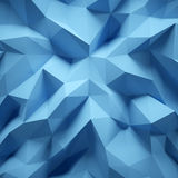 Photo of highly detailed multicolor polygon. Blue geometric rumpled triangular low poly style. Square. 3d render. Photo of highly detailed multicolor polygon Stock Images