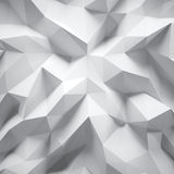 Photo of highly detailed white polygon. White geometric rumpled triangular low poly style. Abstract gradient graphic. Photo of highly detailed multicolor polygon Stock Photo