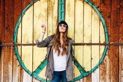 Photo of a Hippie Woman Royalty Free Stock Images