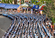Photo historique la cérémonie de la ville de Loei Dansez la déesse, adorez la puanteur de Kud de déesse et adorez photos stock