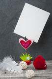 Photo holder with blank card Stock Images