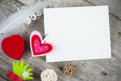 Photo holder with blank card Royalty Free Stock Photography