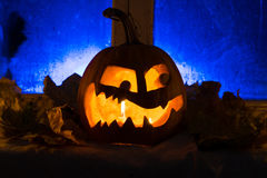Photo for a holiday Halloween, the embittered pumpkin Royalty Free Stock Photos