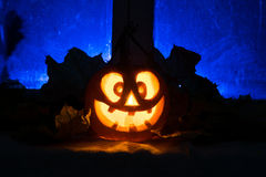 Photo for a holiday Halloween, mad pumpkin Stock Photography