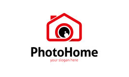 Photo Home Logo. Minimalist and modern photo logo template. Simple work and adjusted to suit your needs Royalty Free Stock Photos