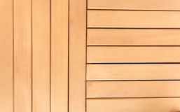 Photo of horizontal and vertical wooden planks Stock Photo