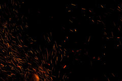 Photo of hot sparking live-coals burning Stock Photos
