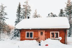 Photo of House Covered With Snow royalty free stock photo