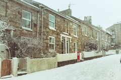 Photo of Houses During Winter Stock Photography