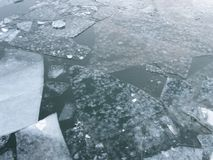 Ice on the Potomac River in January Royalty Free Stock Images