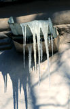 Photo Icicle on roof Stock Image