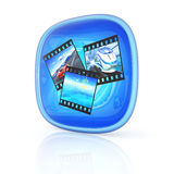 Photo icon 3d Royalty Free Stock Photography