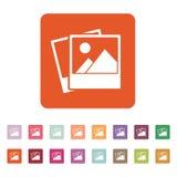 The photo icon. photograph and image, snapshot symbol. Flat Stock Image