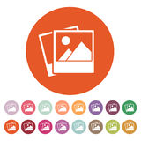 The photo icon. photograph and image, snapshot symbol. Flat Royalty Free Stock Photo