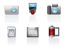 Photo Icon Set Royalty Free Stock Image