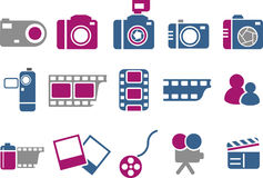Photo icon set Stock Photos