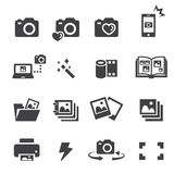 Photo icon set Royalty Free Stock Photography