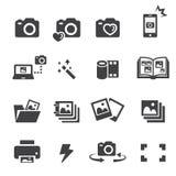 Photo icon set Royalty Free Stock Photography