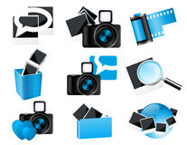 Photo icons Royalty Free Stock Photography