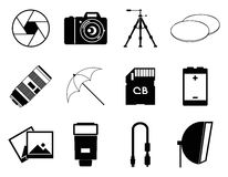 Photo icons accessories set vector illustration Royalty Free Stock Photography