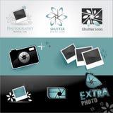 Photo icons set vector illustration