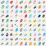 100 photo icons set, isometric 3d style Royalty Free Stock Photos