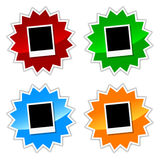 Photo icons set Stock Image