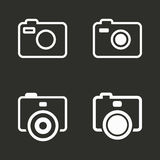 Photo icons set. Photo vector icons set. White illustration isolated for graphic and web design Royalty Free Stock Image