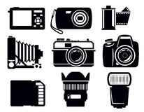 Photo icons Royalty Free Stock Photos