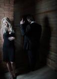 Photo with idea of quarrel or divorce Stock Photo