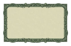 Money Border. Photo-illustration of a border/frame using elements from a dollar bill royalty free stock photos