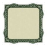 Money Border. Photo-illustration of a border/frame using elements from a dollar bill Royalty Free Stock Photography
