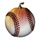 Baseball Pumpkin Half and Half Royalty Free Stock Photography