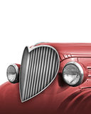 Heart Grille. Photo-Illustration of an old car with the grille retouched into the shape of a heart. Includes a clipping path so as to place it on top of another Stock Images
